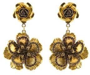 Erickson Beamon Vermeil Bouquet Flower Earrings