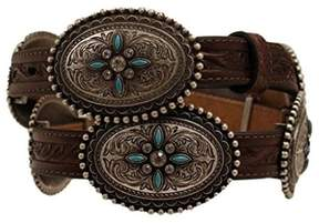 Ariat A1516002-S 0.75 in. Womens Oval Concho Belt, Brown - Small