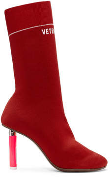 Vetements Red Lighter Sock Boots