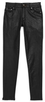 Tractr Girl's Coated Buttoned Pants