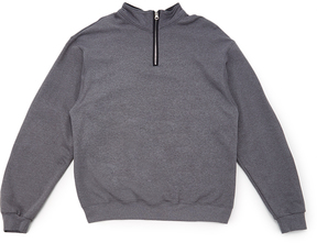 Fruit of the Loom Charcoal Heather & Black Quarter-Zip Pullover