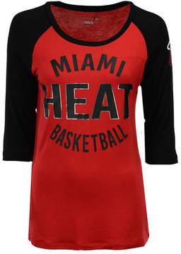 5th & Ocean Women's Miami Heat Rayon Raglan T-Shirt