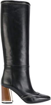 Marni chunky heel mid-length boots