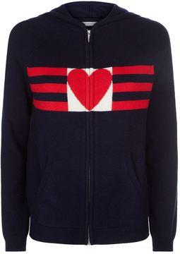 Chinti and Parker Heart and Stripe Hoodie