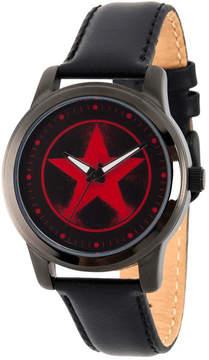 Marvel Avengers Mens Black Strap Watch-Wma000217