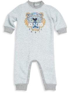 Kenzo Baby's Marl Tiger Printed Coverall