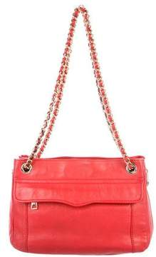 Rebecca Minkoff Chain-Link Multi-Pocket Shoulder Bag - RED - STYLE