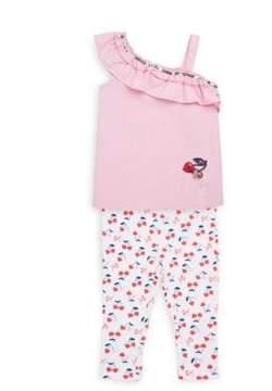 Betsey Johnson Little Girl's Two-Piece Top and Capri Leggings Set