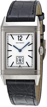 Jaeger-LeCoultre Jaeger Lecoultre Reverso 1931 Silver Dial Black Leather Men's Watch