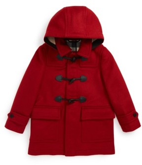 Burberry Boy's Burwood Wool Toggle Coat