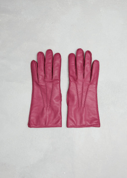 Dries Van Noten Fuchsia Gloves