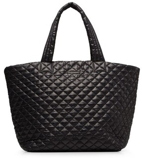 MZ Wallace 'Large Metro' Quilted Oxford Nylon Tote - Black