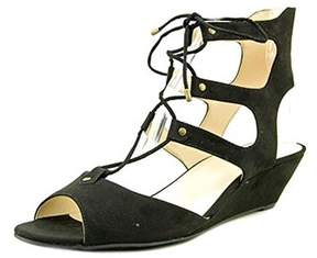 INC International Concepts Womens Mandie Open Toe Ankle Strap Wedge Pumps.