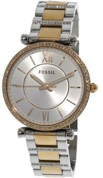Fossil Women's Carlie ES4342 Silver Stainless-Steel Japanese Quartz Fashion Watch