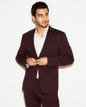 Express Slim Burgundy Wool Blend Oxford Suit Jacket