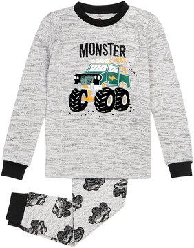 Petit Lem Boy's Monster Truck Two-Piece Pajama Set, Size 12-24 Months