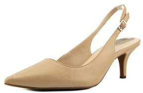 Alfani Babbsy Pointed Toe Synthetic Slingback Heel.