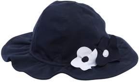 Il Gufo Cotton Jersey Hat W/ Flower Details