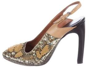 Dries Van Noten Sequined Slingback Pumps