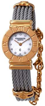 Charriol St-Tropez White Mother of Pearl Dial Ladies Watch