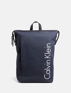 Calvin Klein quad stitch logo backpack