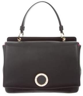 Bvlgari Smooth Leather Satchel