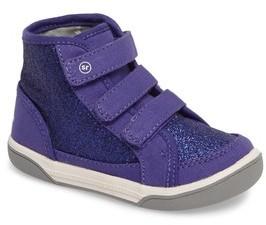 Stride Rite Infant Girl's Ellis Glitter High Top Sneaker