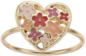 Lauren Conrad Heart Flower Ring