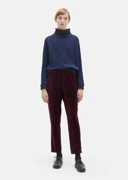 Blue Blue Japan Velour Tapered Pants Burgundy Size: Small