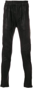 Julius metallic slim-fit trousers