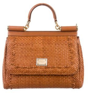 Dolce & Gabbana Leather Miss Sicily Bag - BROWN - STYLE