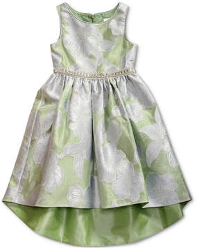 Sweet Heart Rose Little Girls Floral-Print High-Low Hem Dress