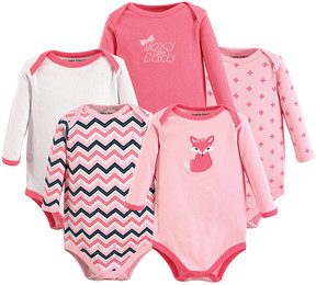Luvable Friends Pink Long-Sleeve Bodysuit Set - Newborn & Infant
