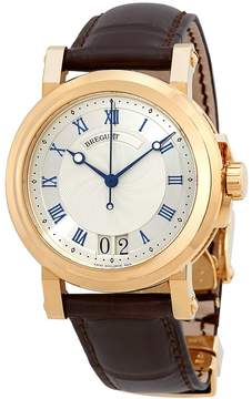 Breguet Marine Silver Dial Leather Men's Watch