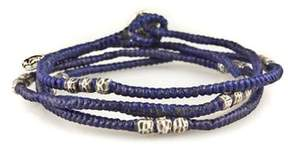 M. Cohen Knotted Wrap Bracelet in Blue