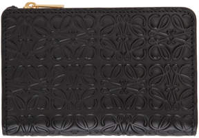 Loewe Black Small Anagram Zip Wallet