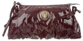 Gucci Patent Leather Hysteria Clutch - BURGUNDY - STYLE