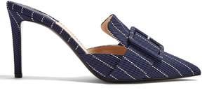 Altuzarra Izy point-toe pinstriped mules