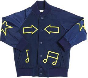 Stella McCartney Felt Wool & Nylon Bomber Jacket