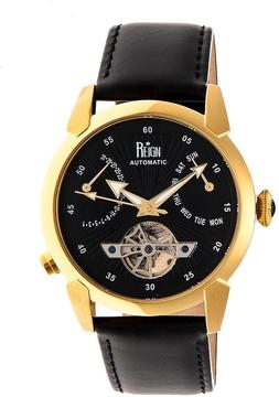 Reign Canmore Collection Men's Automatic Leather and Stainless Steel Watch