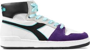 Diadora White/Black/Violet Purple Opulen Basket 80 Act Shoes