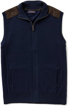 Roundtree & Yorke Full-Zip Sweater Vest