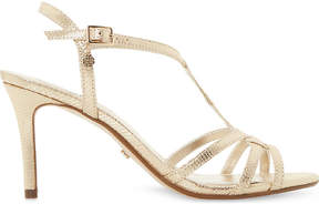 Dune Miniee reptile-effect metallic sandals