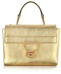 Coccinelle Women's Gold Leather Handbag.