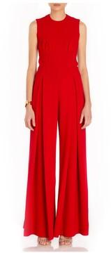 Emilia Wickstead Ethel Sleeveless Jumpsuit In Red