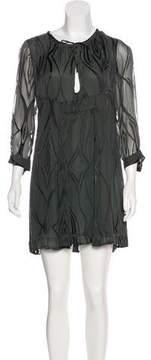 Barbara Bui Silk-Blend Mini Dress