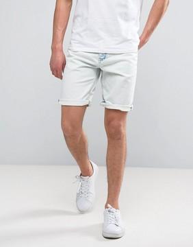 Celio Denim Shorts in Bleached Wash
