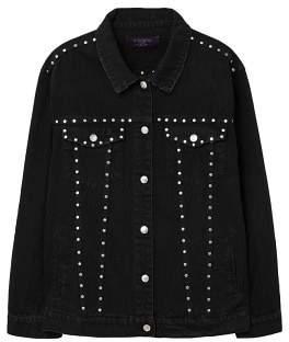 Violeta BY MANGO Studded denim jacket