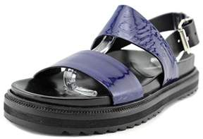 CNC Costume National Sandalo Open-toe Patent Leather Sport Sandal.