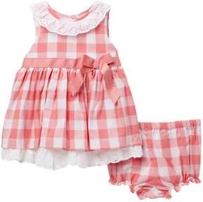 Laura Ashley Checkered Dress (Baby Girls 0-9M)